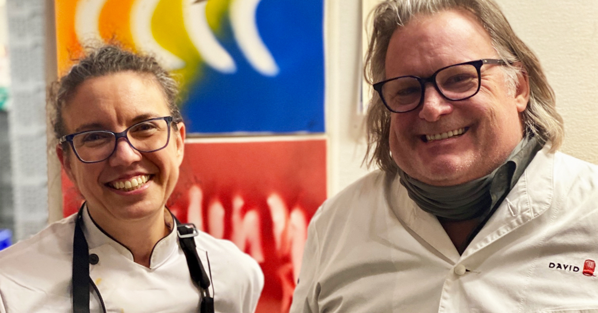 Chef Toni Charmello and Chef David Burke