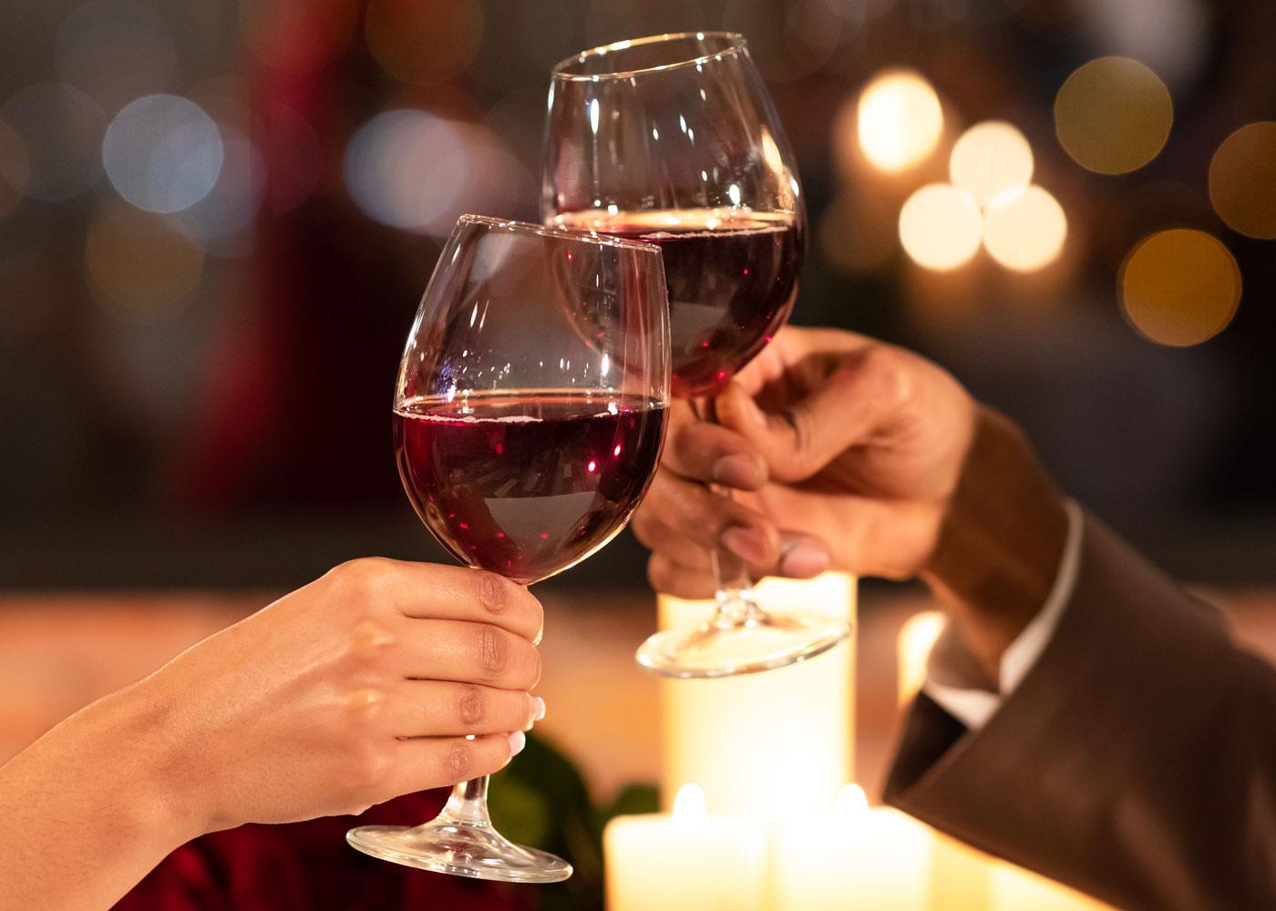 Date Night Glasses of Wine